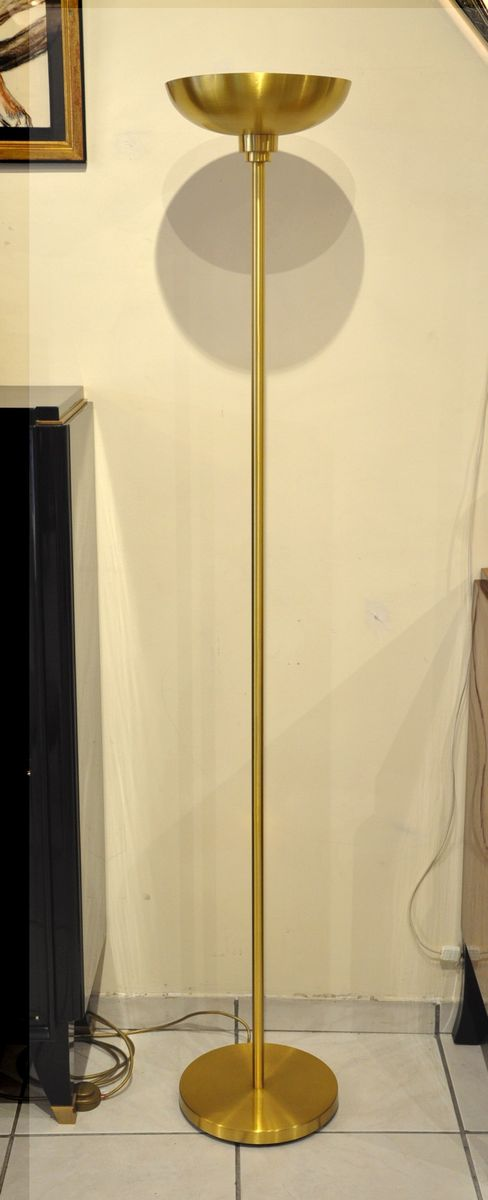 Vintage 105 m gold floor lamp by jean perzel for sale at pamono vintage 105 m gold floor lamp by jean perzel mozeypictures