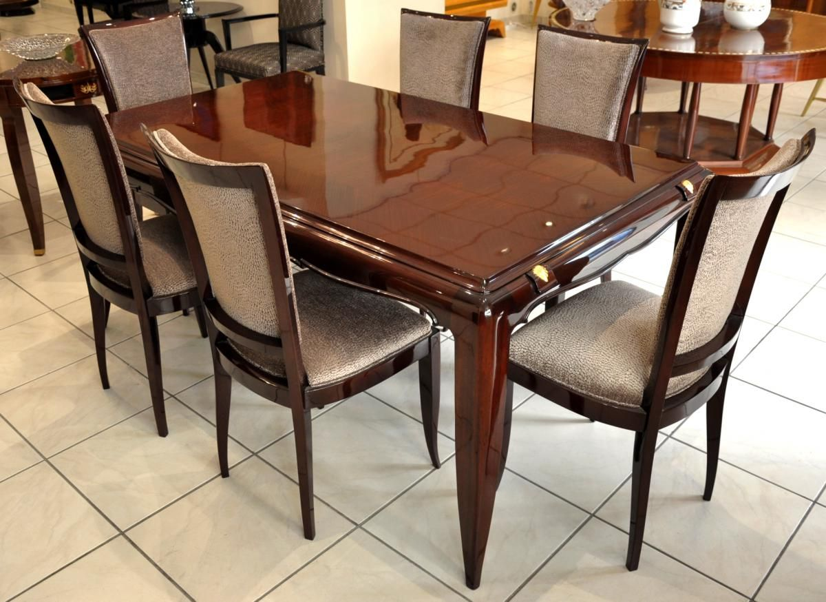 Dining Table Set By Jean Desnos 1940s Of 7