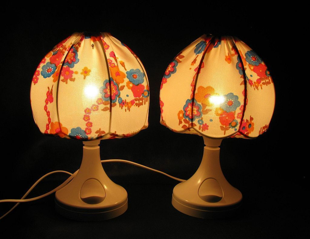 Amazing Vintage Night Lamps From Bonalux, Set Of 2 For Sale At Pamono