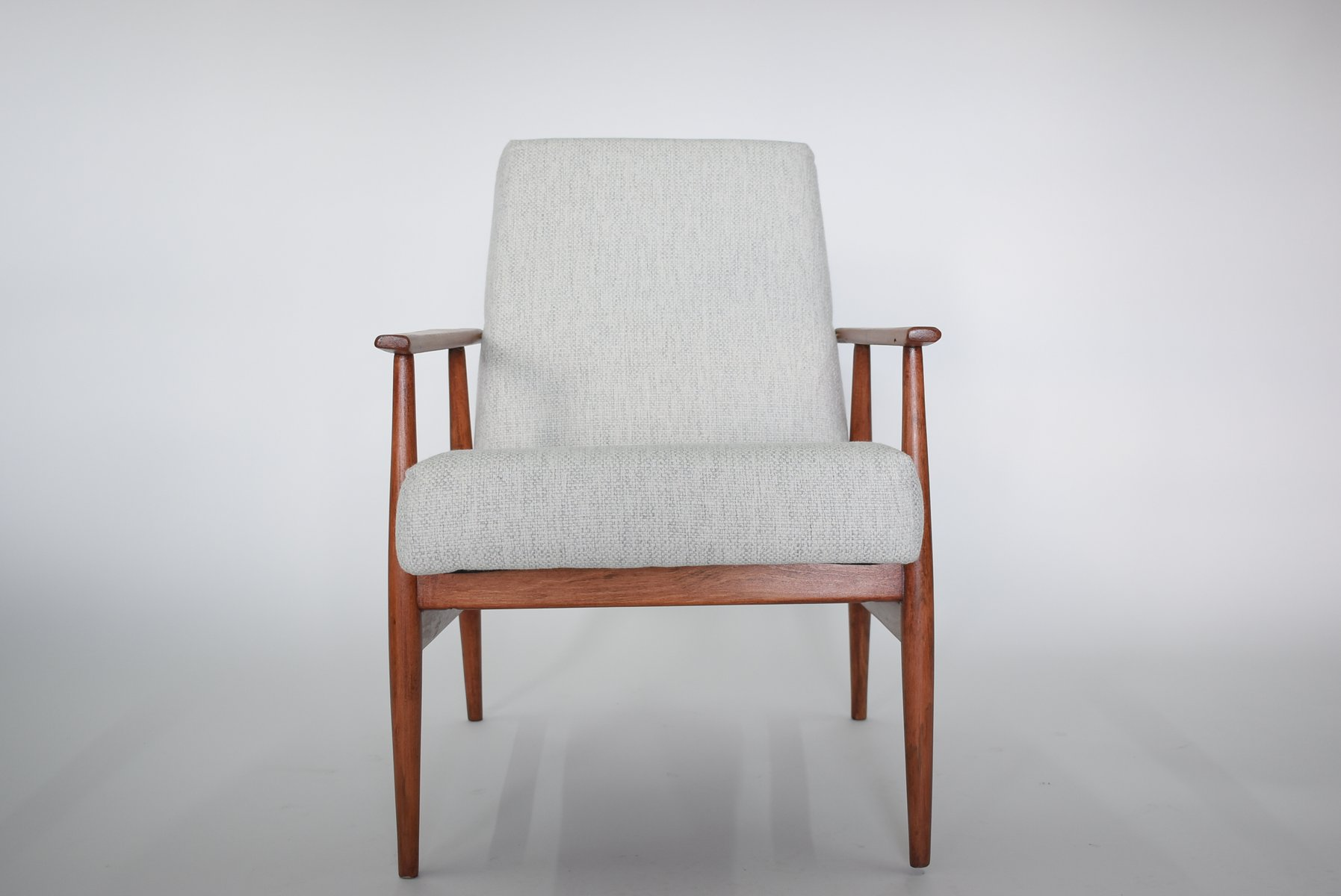 Captivating Polish Light Grey Armchair By H. Lis, 1960s For Sale At Pamono
