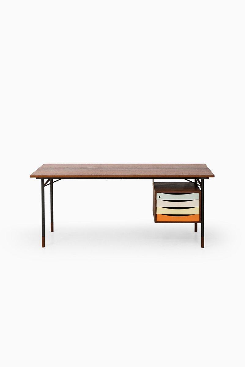 Mid Century Danish Nyhavn Desk By Finn Juhl For Bovirke 1950s