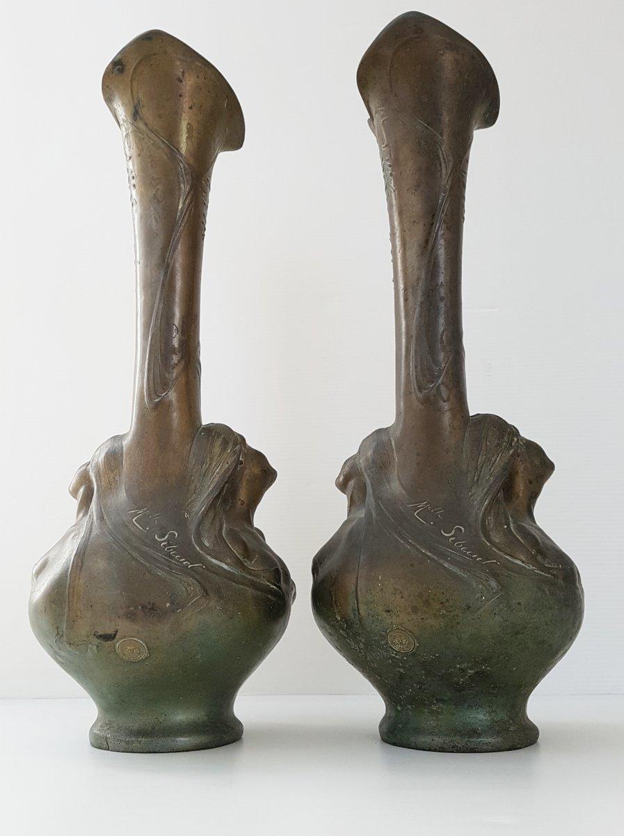 Antique bronze art nouveau vases by melle sibeud set of 2 for antique bronze art nouveau vases by melle sibeud set of 2 for sale at pamono reviewsmspy