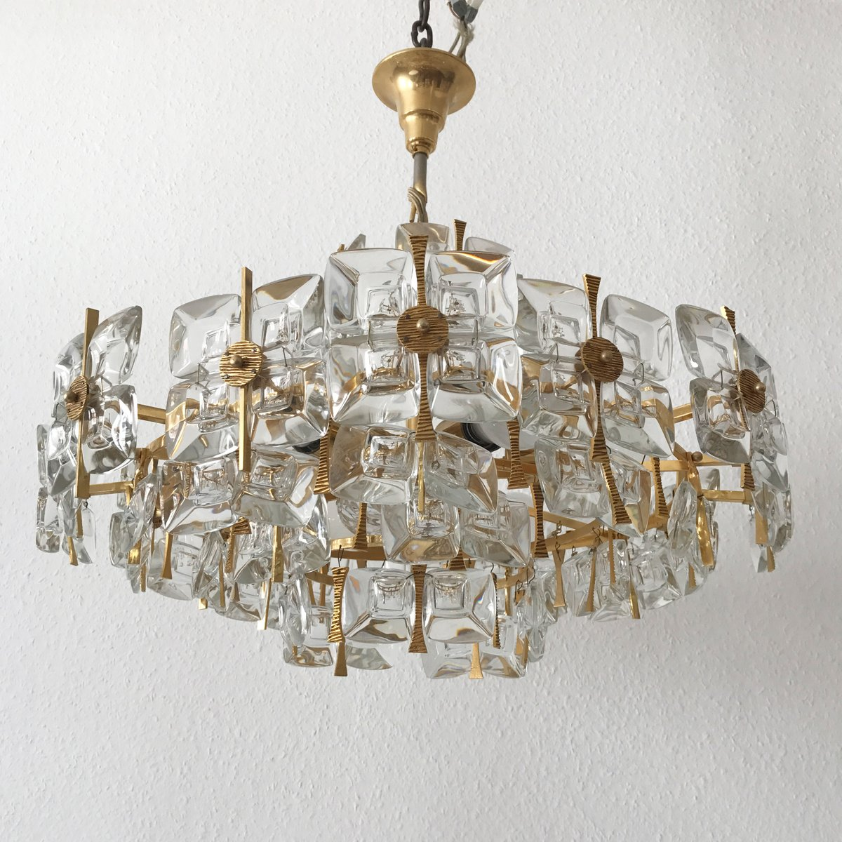 Mid century crystal glass chandelier from palwa 1960s en venta en mid century crystal glass chandelier from palwa 1960s aloadofball Choice Image