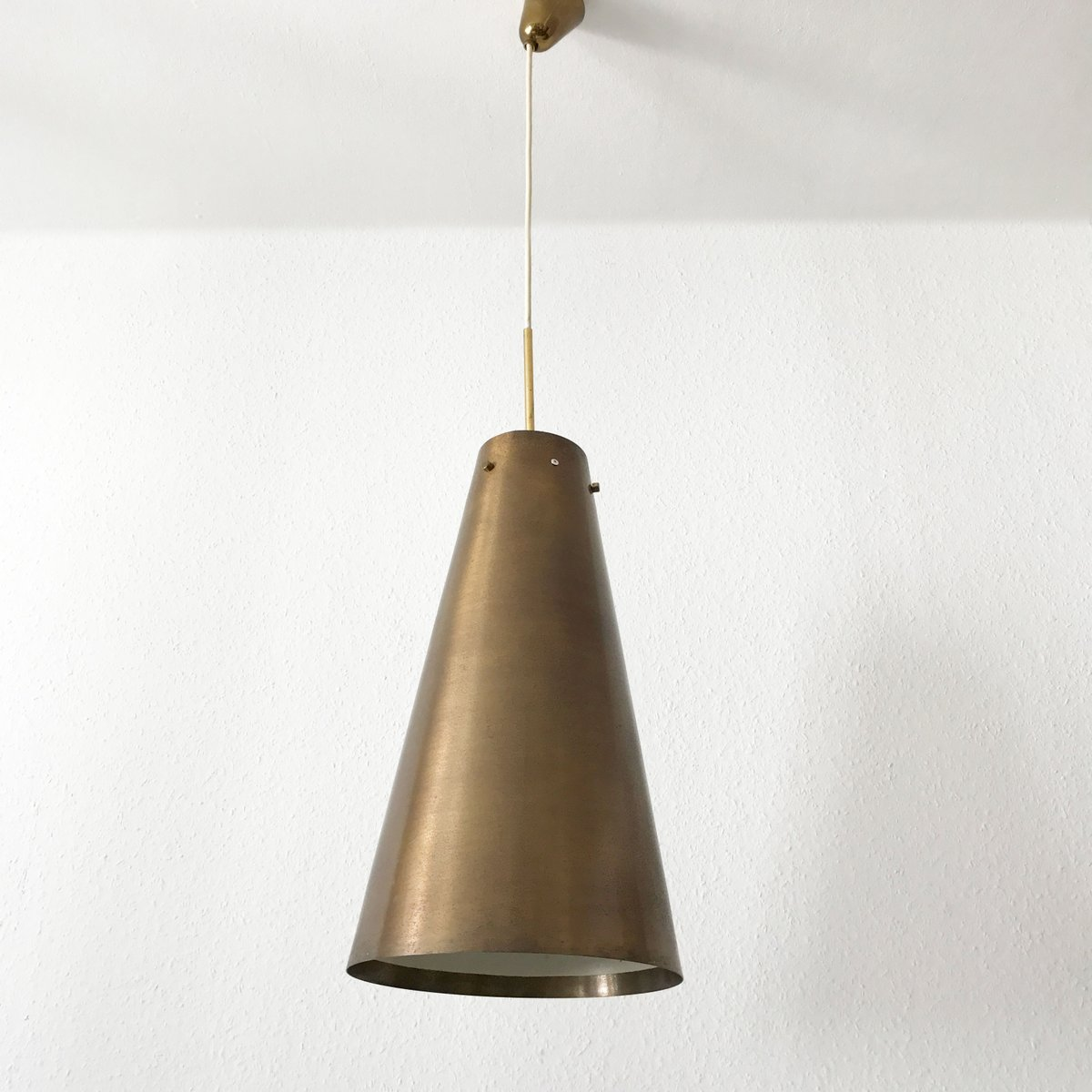 mid century pendant lighting. Large Mid-Century Modern Brass Pendant Lamp, 1950s Mid Century Lighting M