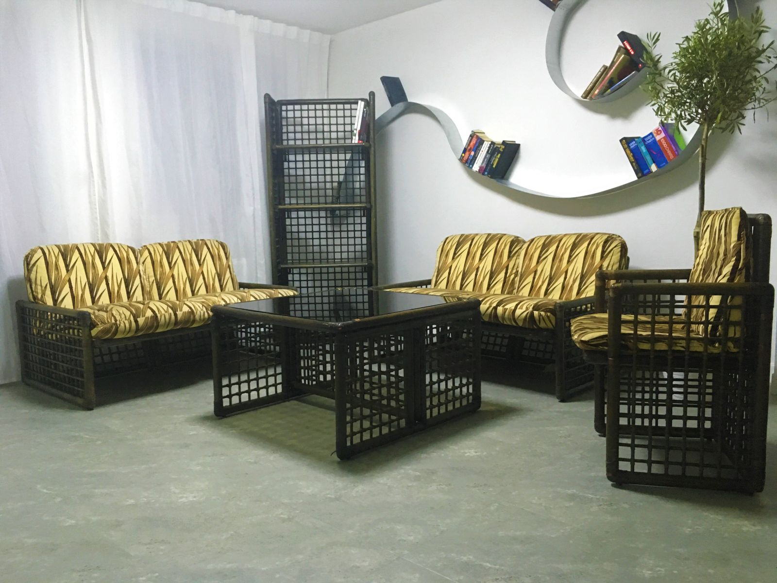 Bamboo Living Room Furniture. Vintage Bamboo Living Room Set by Tobia  Afra Scarpa for B Italia
