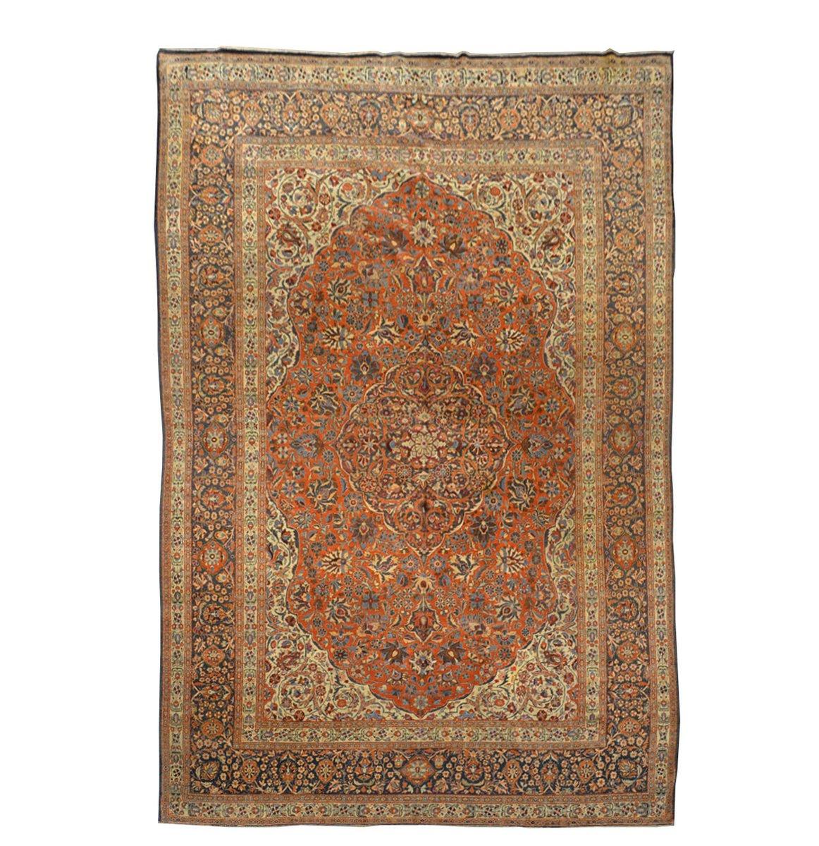 klassischer persischer tabriz teppich aus wolle 1900er bei pamono kaufen. Black Bedroom Furniture Sets. Home Design Ideas