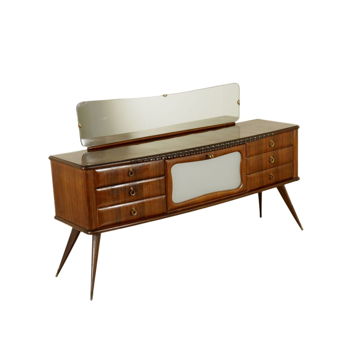 italienisches palisander furnier sideboard mit spiegel 1950er bei pamono kaufen. Black Bedroom Furniture Sets. Home Design Ideas