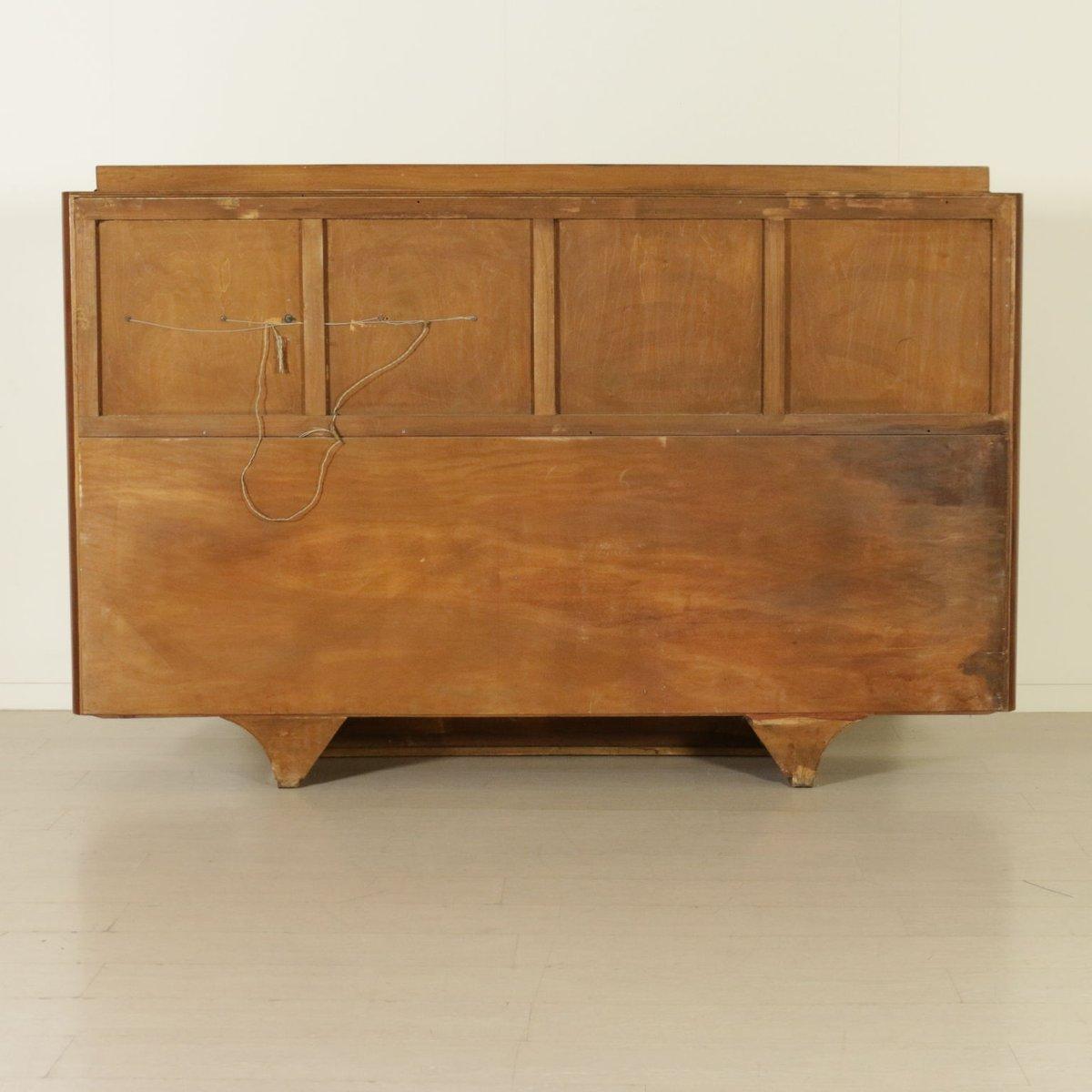 italienischer palisander furnier schrank mit barfach 1950er bei pamono kaufen. Black Bedroom Furniture Sets. Home Design Ideas