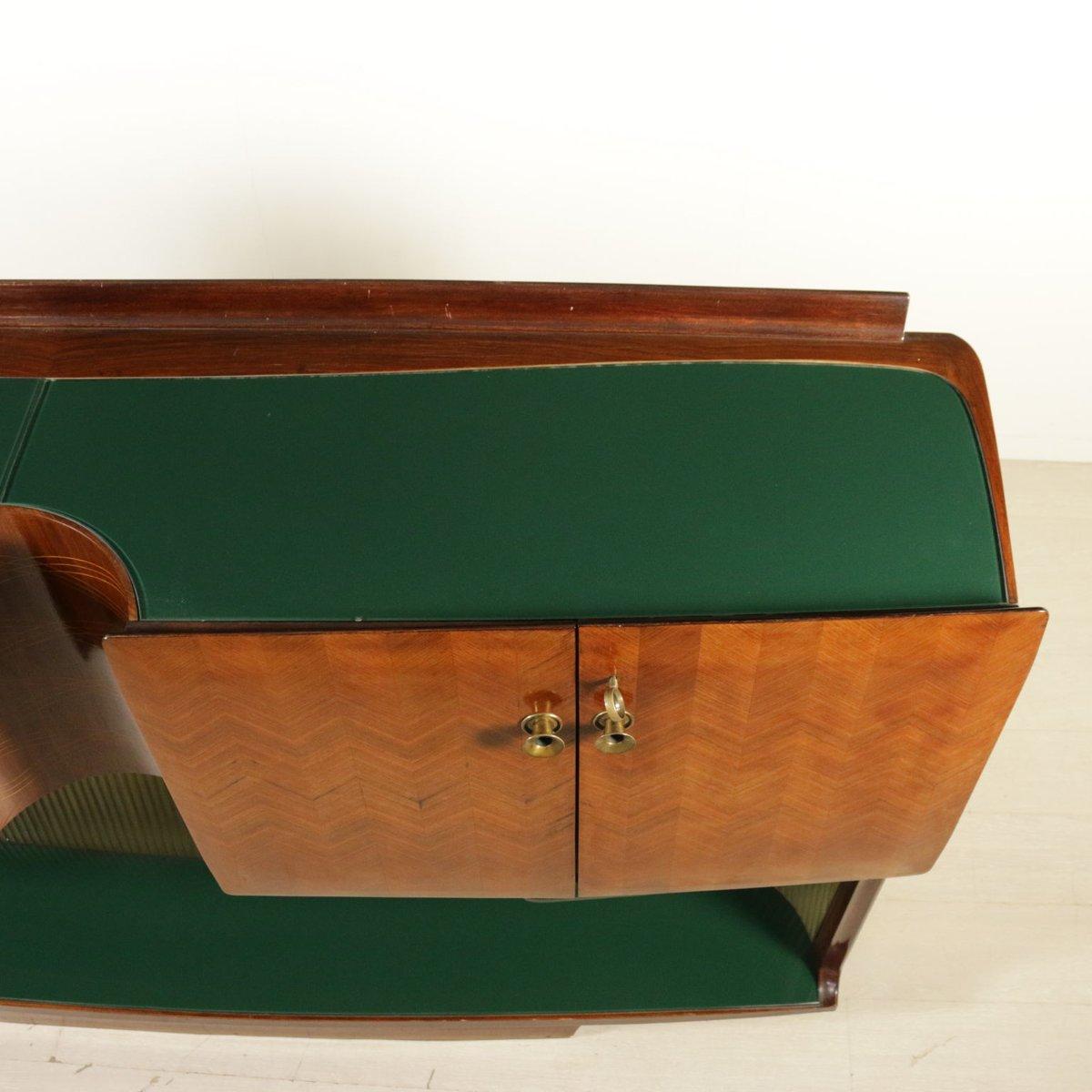 placard en placage de palissandre avec compartiment bar italie 1950s en vente sur pamono. Black Bedroom Furniture Sets. Home Design Ideas