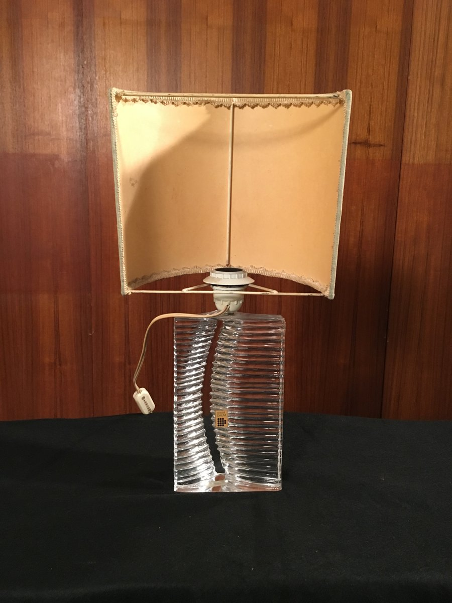 Vintage Glass Table Lamp From Daum 1960s For Sale At Pamono