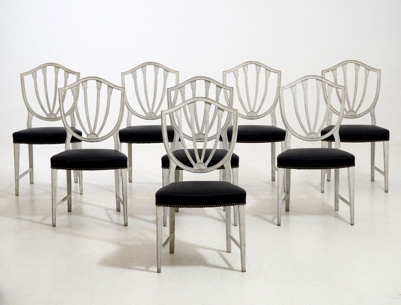 Antique Chairs with Horsehair, Set of 8 - Antique Chairs With Horsehair, Set Of 8 For Sale At Pamono