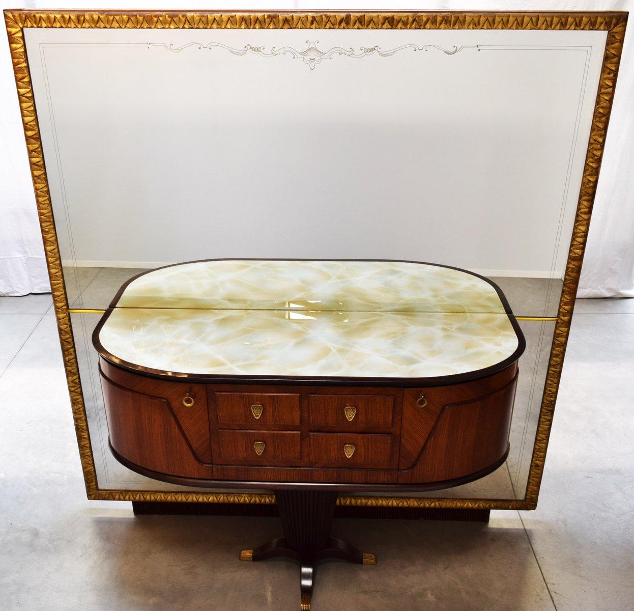 italienischer konsolentisch mit spiegel von rima 1950er bei pamono kaufen. Black Bedroom Furniture Sets. Home Design Ideas