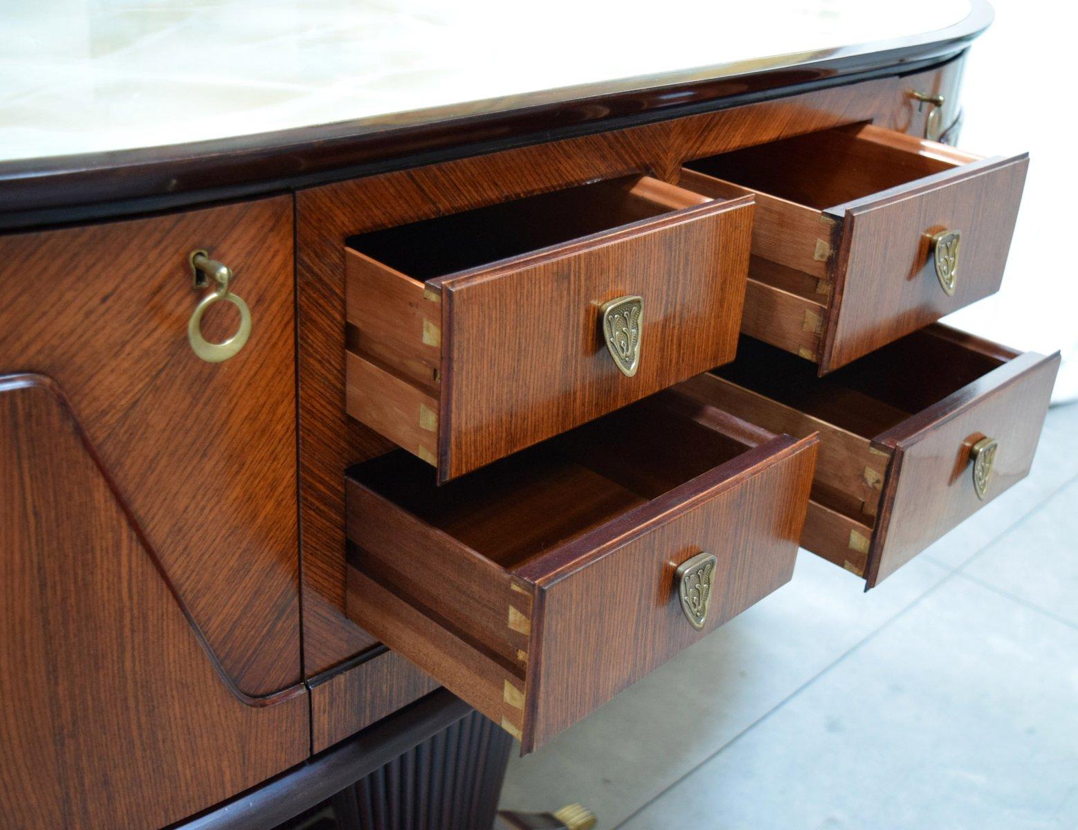 italienischer konsolentisch mit spiegel von rima 1950er. Black Bedroom Furniture Sets. Home Design Ideas