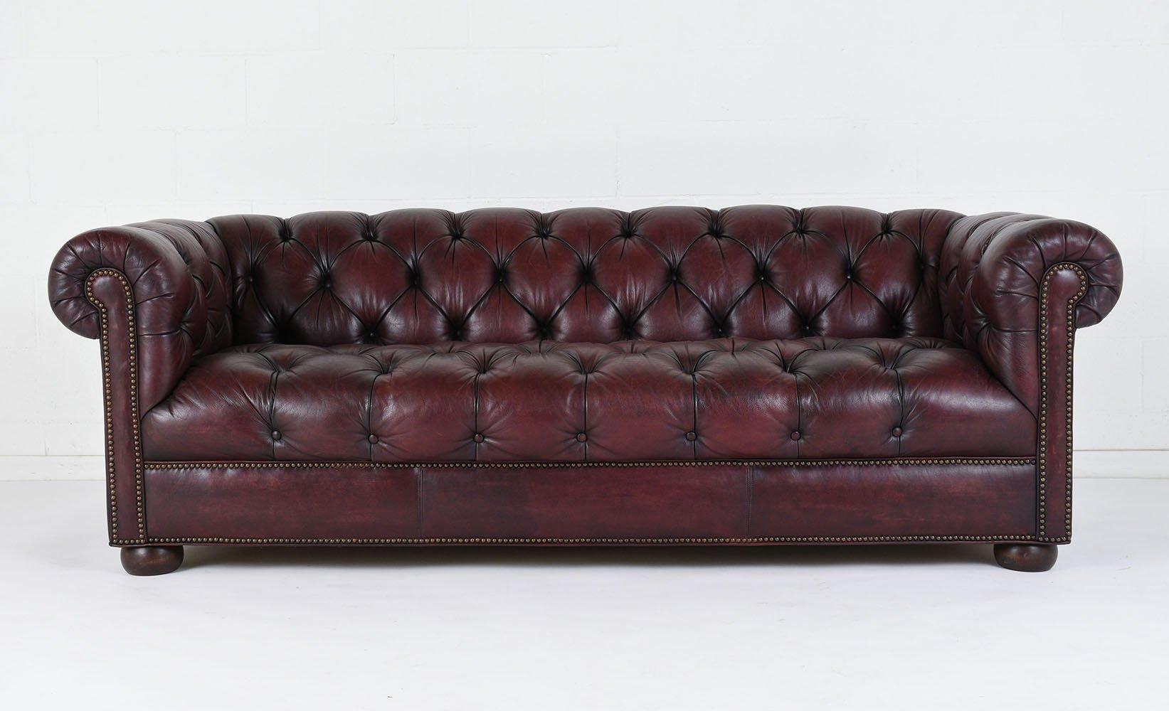 canap vintage capitonn en cuir 1970s en vente sur pamono. Black Bedroom Furniture Sets. Home Design Ideas