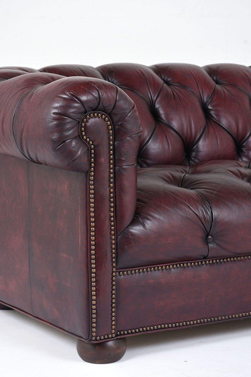 Merveilleux Vintage Tufted Leather Sofa, 1970s 7. $4,800.00. Price Per Piece