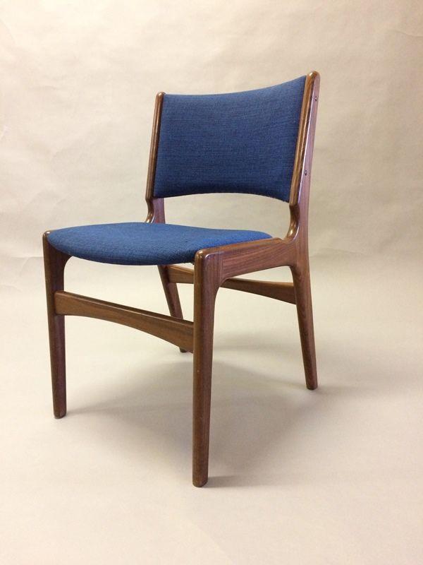 chaises de salon en teck massif par erik buch 1950s set de 6 en vente sur pamono. Black Bedroom Furniture Sets. Home Design Ideas