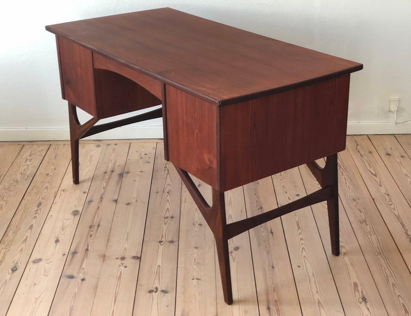 d nischer mid century teak schreibtisch 1950er bei pamono kaufen. Black Bedroom Furniture Sets. Home Design Ideas