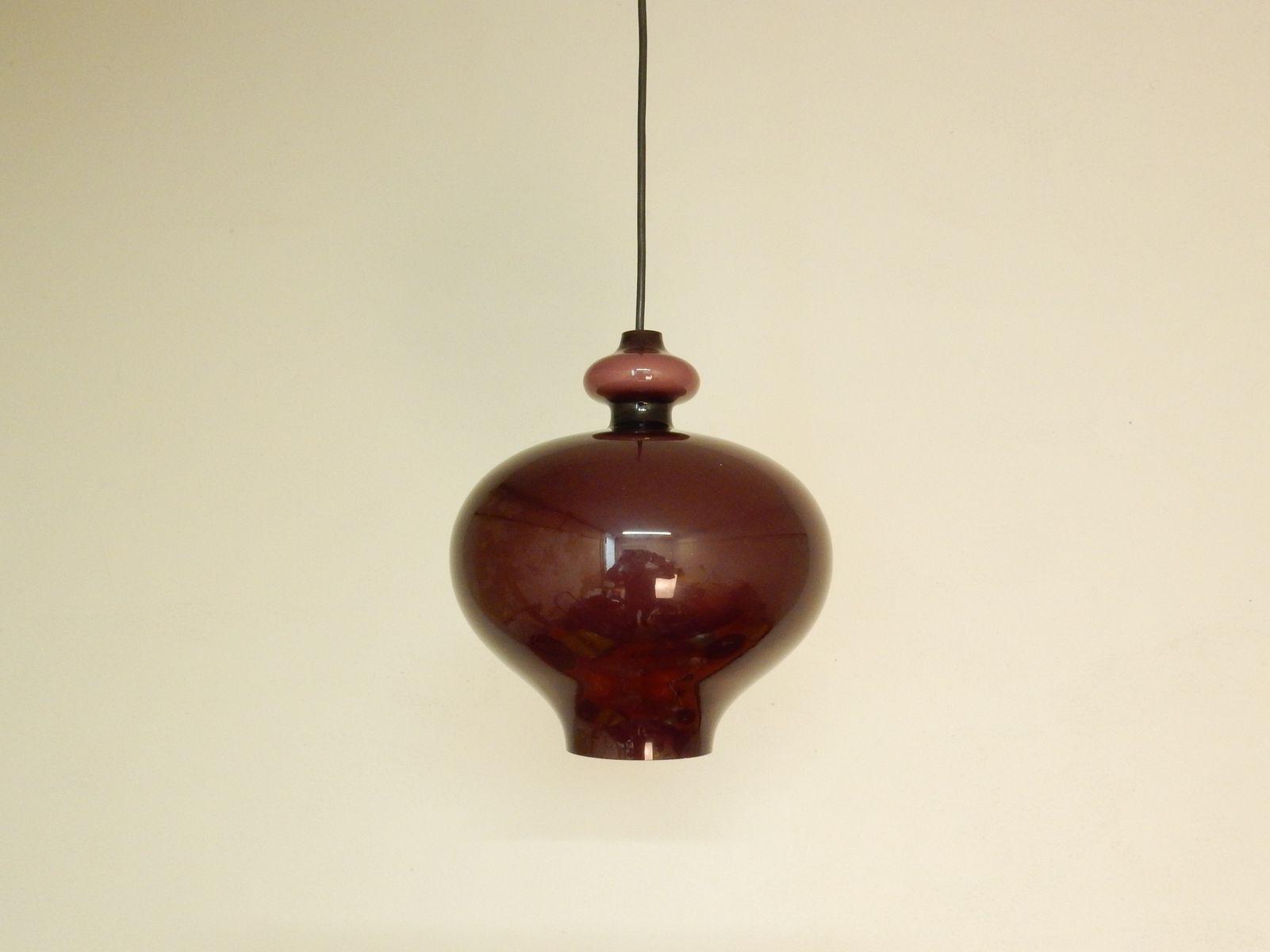 Purple glass pendant light by hans agne jakobsson 1960s for sale at purple glass pendant light by hans agne jakobsson 1960s for sale at pamono arubaitofo Image collections