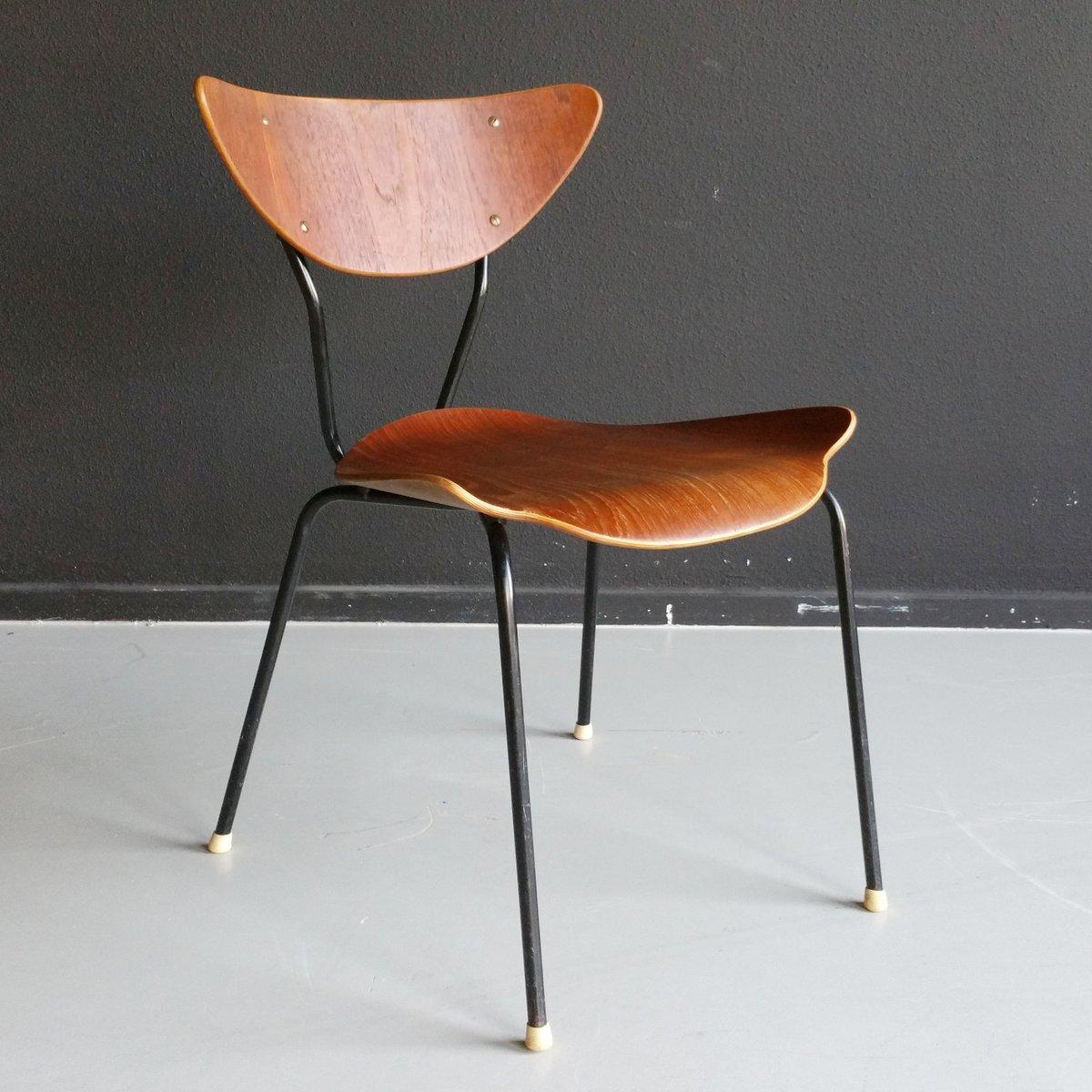 mid century stuhl aus teak schichtholz 1950er bei pamono. Black Bedroom Furniture Sets. Home Design Ideas