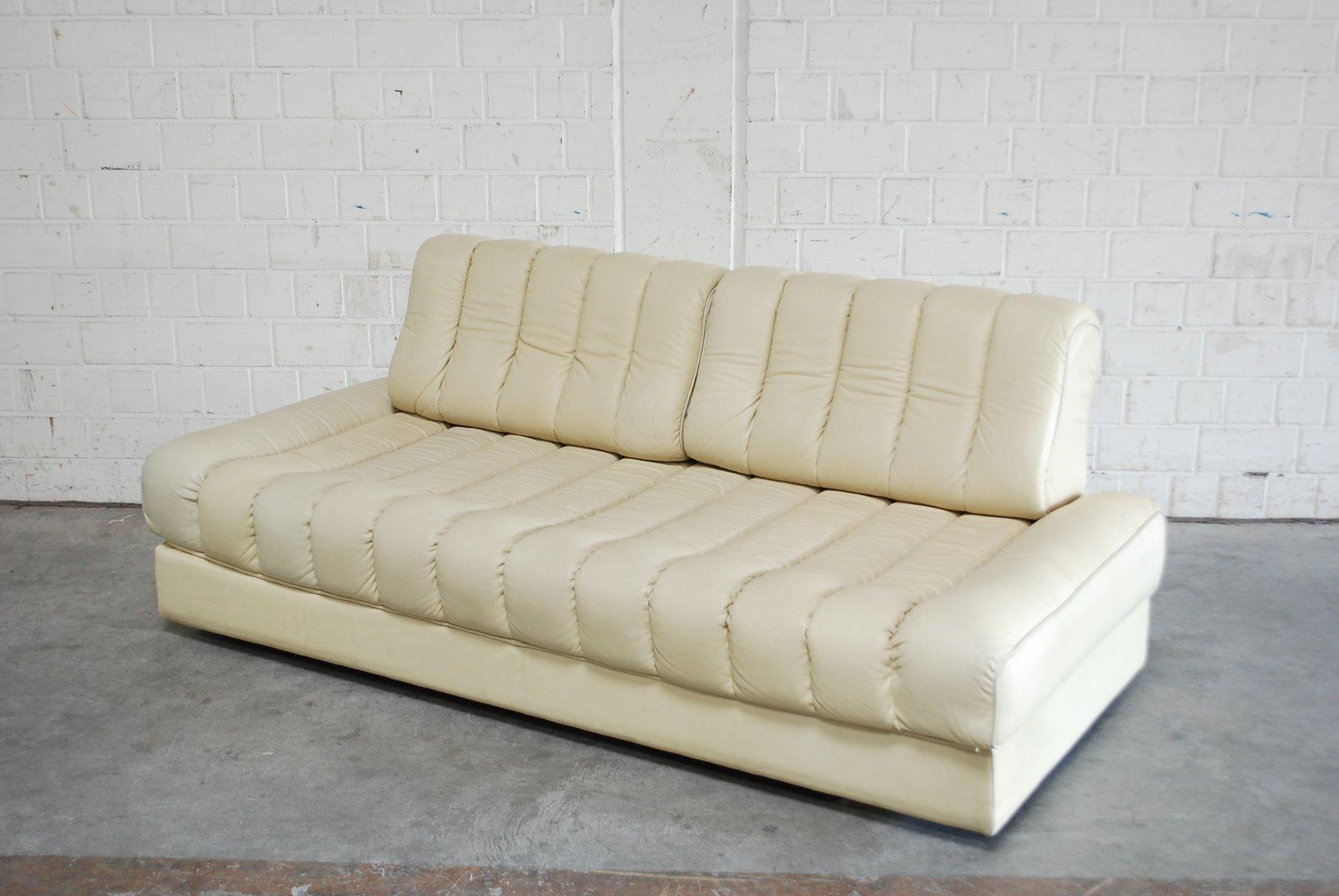 vintage ds 85 leder schlafsofa von de sede bei pamono kaufen. Black Bedroom Furniture Sets. Home Design Ideas