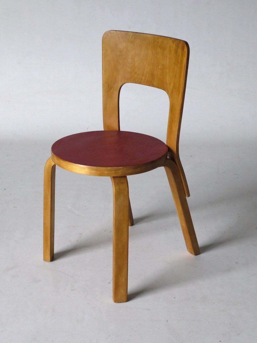 chaise d appoint mod le 66 par alvar aalto pour artek en vente sur pamono. Black Bedroom Furniture Sets. Home Design Ideas