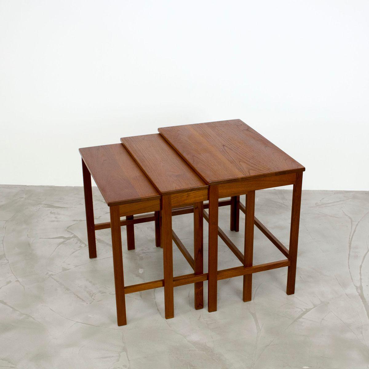 Danish Modern Teak Nesting Tables By Peter Hvidt U0026 Orla Mølgaard Nielsen  For France U0026 Søn, 1960s