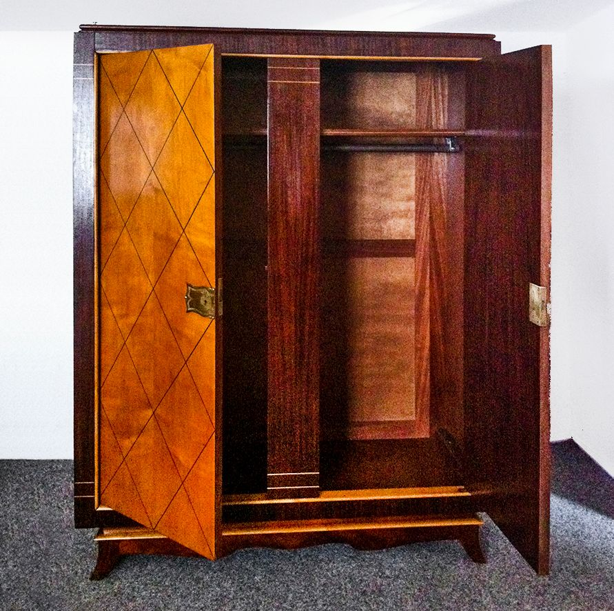 franz sischer art deco schrank 1940er bei pamono kaufen. Black Bedroom Furniture Sets. Home Design Ideas