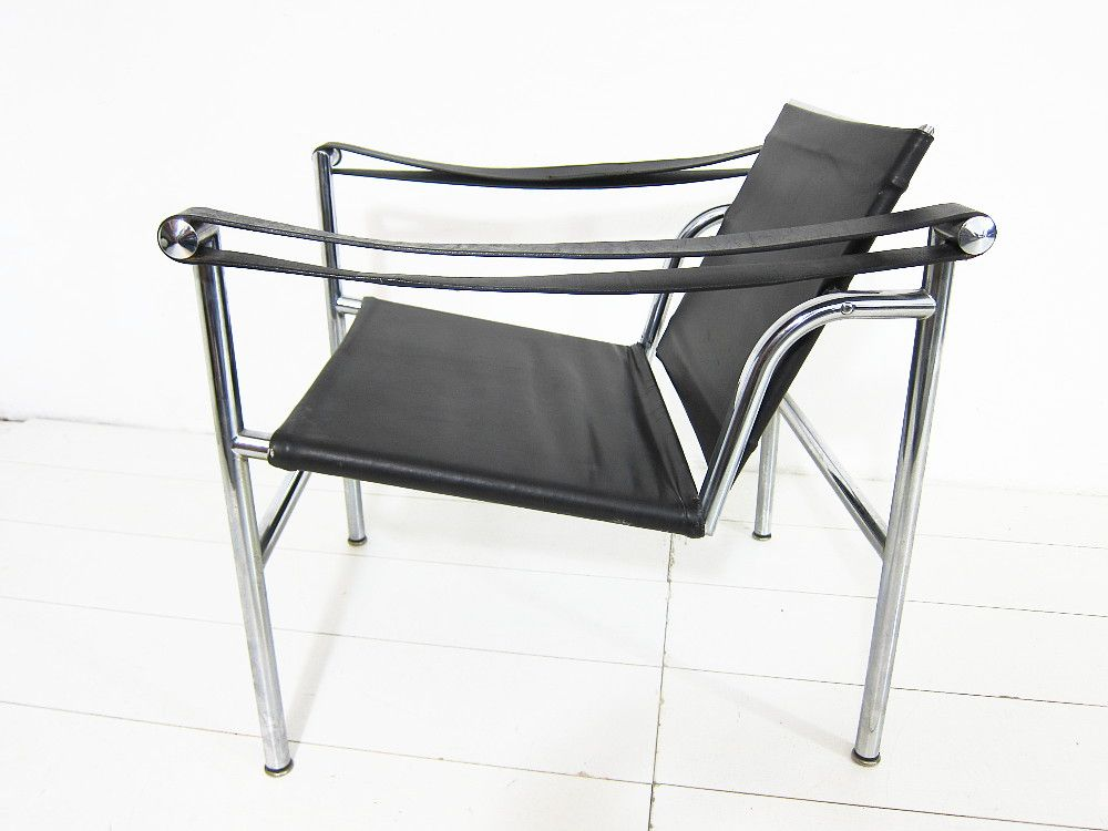 LC1 Vintage Italian Black Leather Armchair By Le Corbusier, Pierre  Jeanneret, U0026 Charlotte Perriand For Cassina