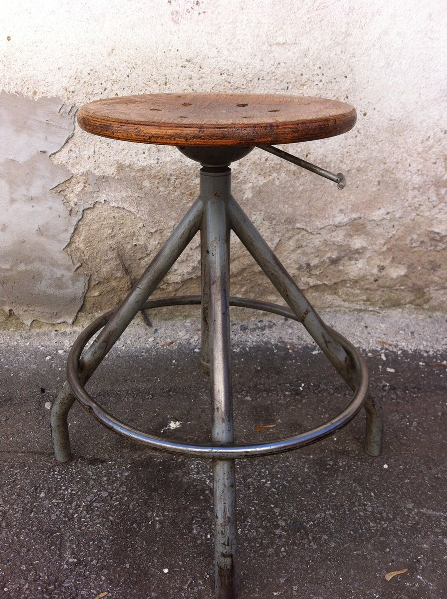 vintage industrial tabouret for sale at pamono. Black Bedroom Furniture Sets. Home Design Ideas