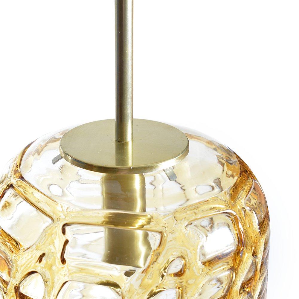 ostdeutsche deckenlampe aus bernsteinfarbenem glas von. Black Bedroom Furniture Sets. Home Design Ideas