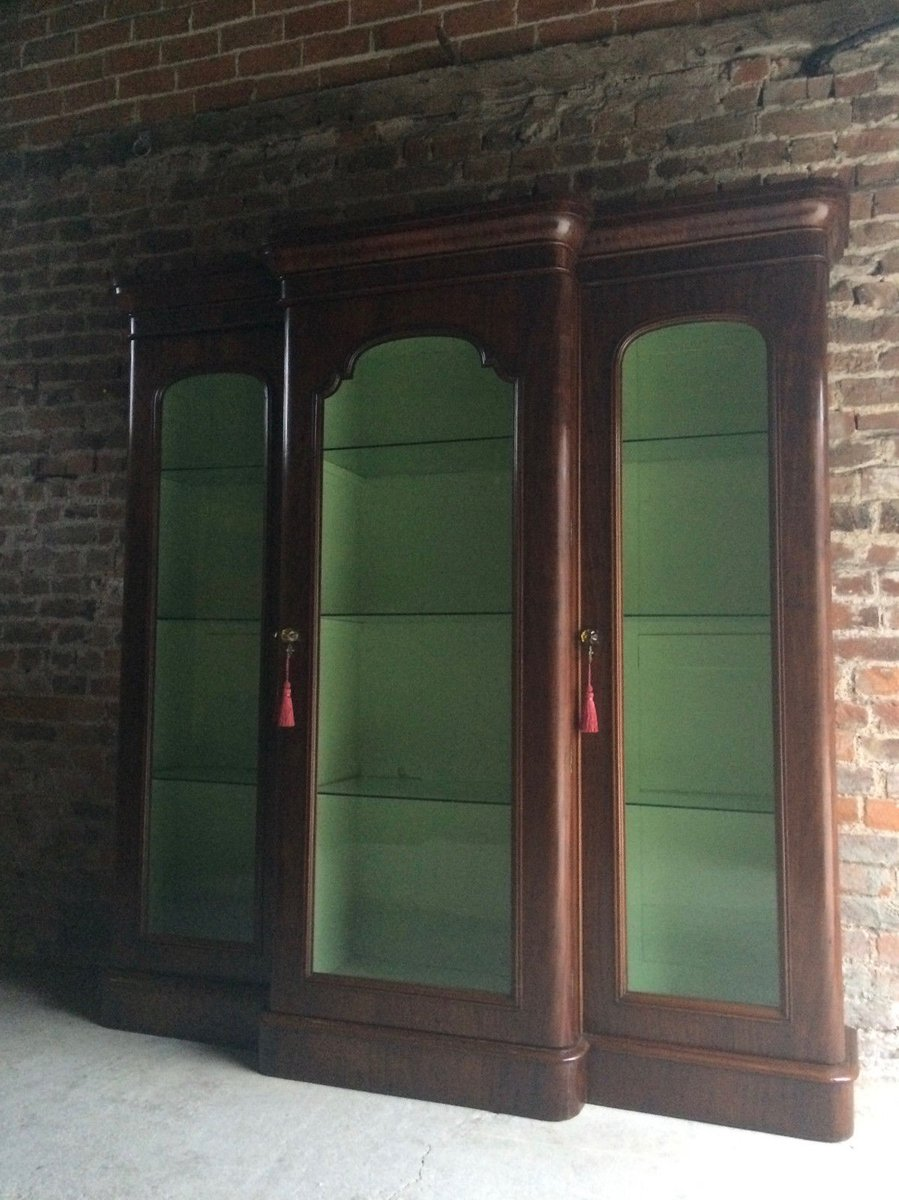 antike viktorianische kurzwaren vitrine aus mahagoni bei pamono kaufen. Black Bedroom Furniture Sets. Home Design Ideas