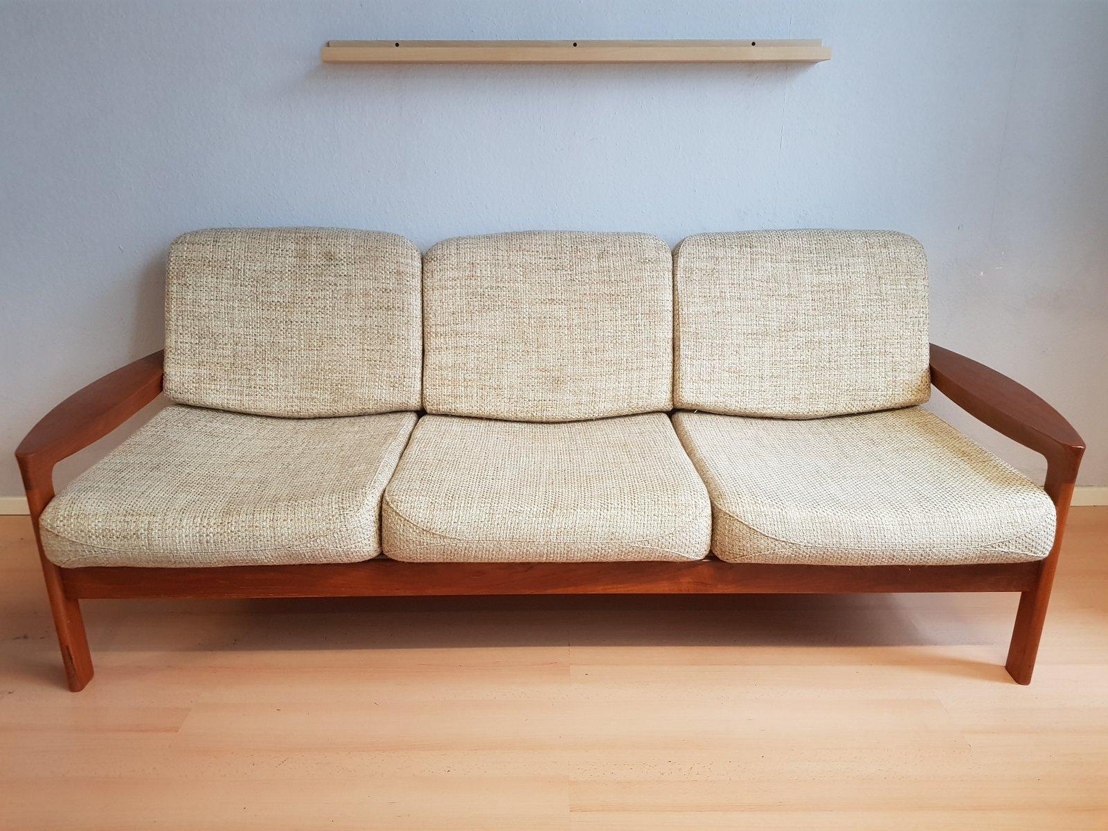 Danish Teak 3-Seater Sofa by Sven Ellekaer for Komfort, 1960s for ...