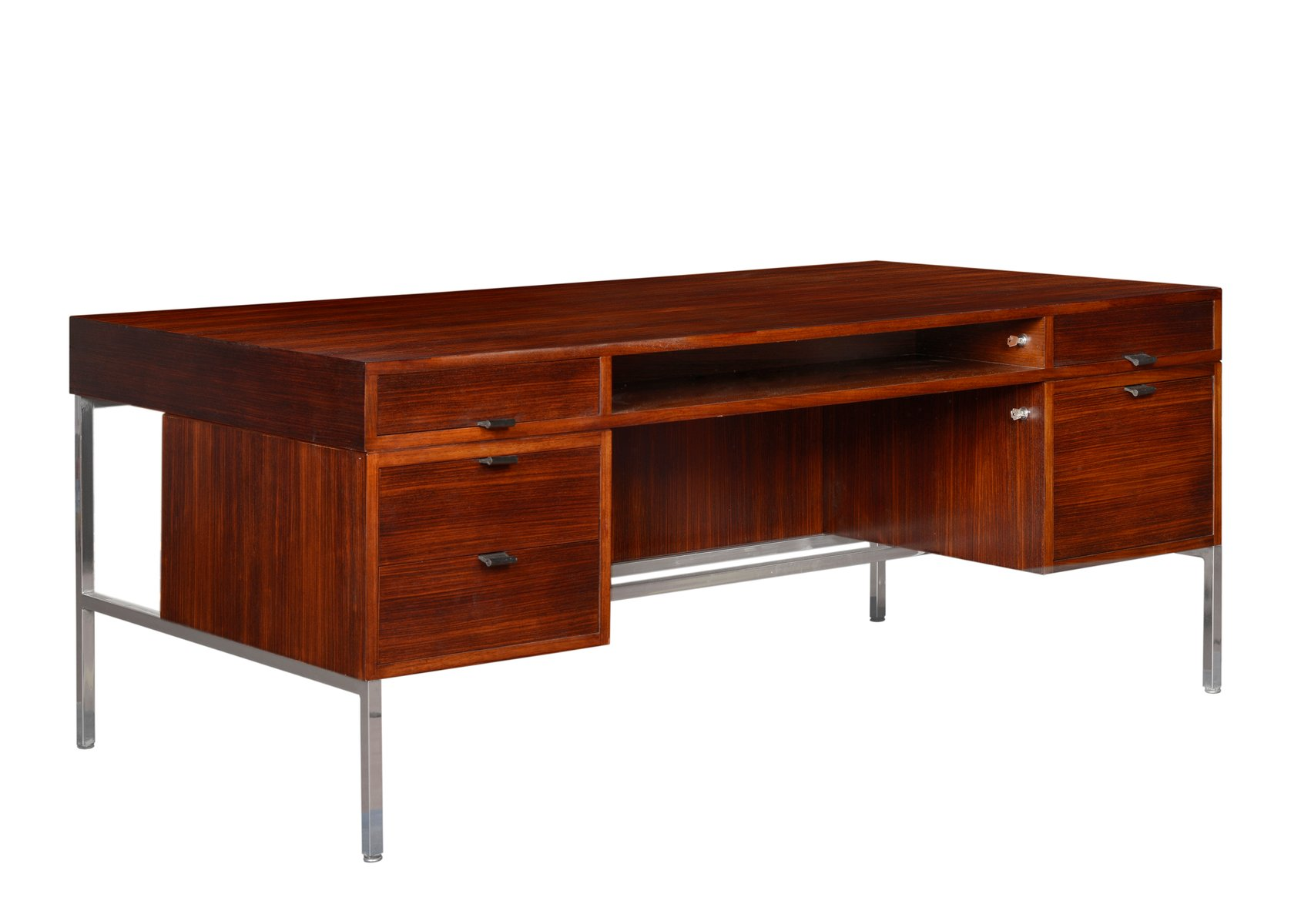 Double sided presidential desk by joseph andré motte for dassas 1960s