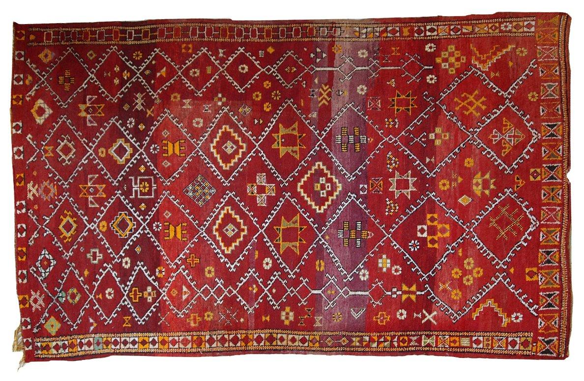 tapis berb re antique fait la main maroc 1910s en vente sur pamono. Black Bedroom Furniture Sets. Home Design Ideas