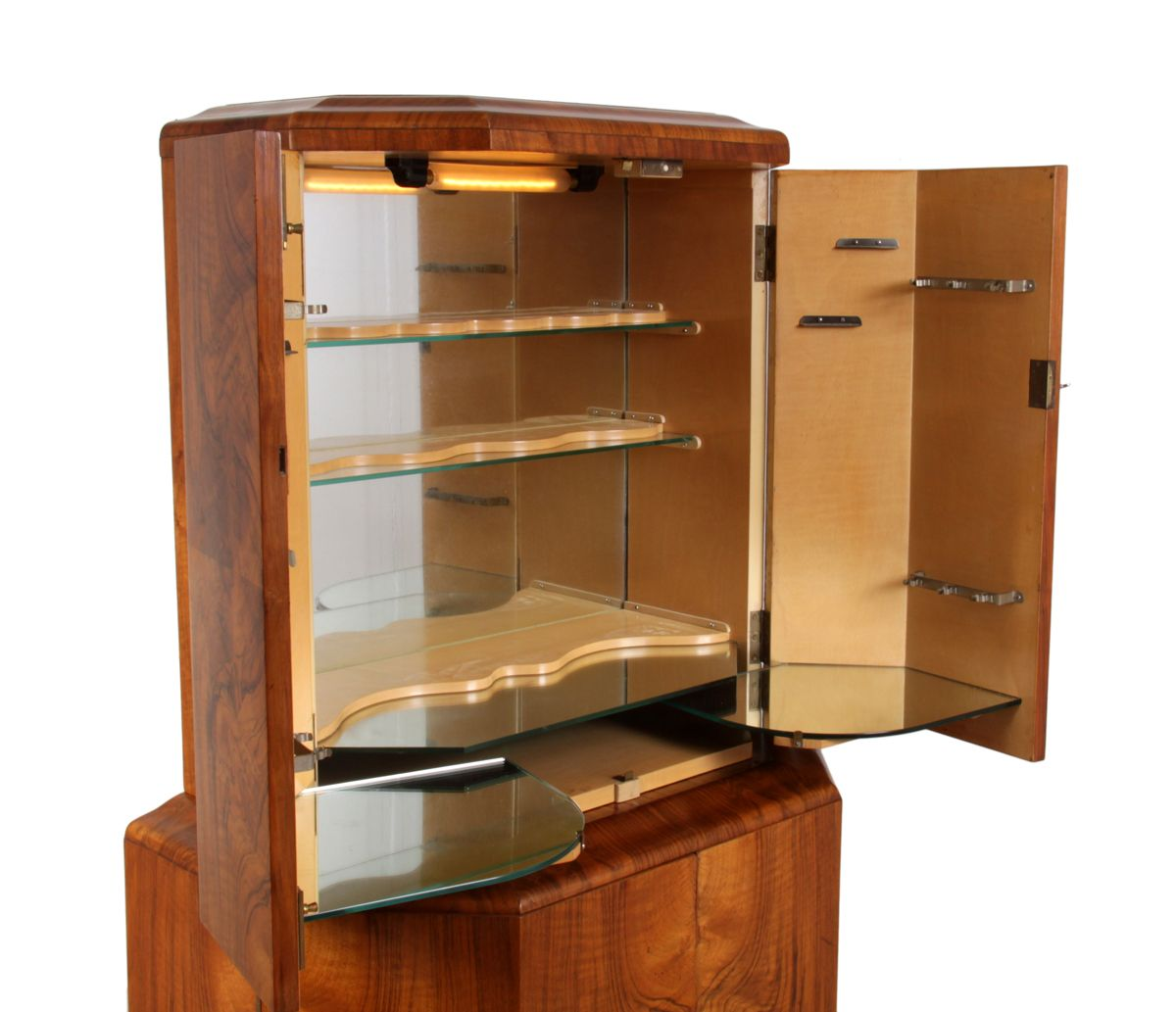 Art Deco Cocktail Cabinet In Walnut, 1930s 12. $3,334.00. Price Per Piece