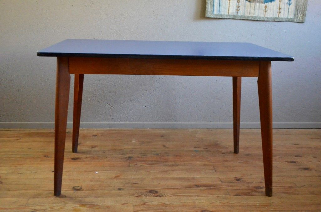 Sapphire blue formica table 1950s for sale at pamono - Table cuisine formica annee 50 ...