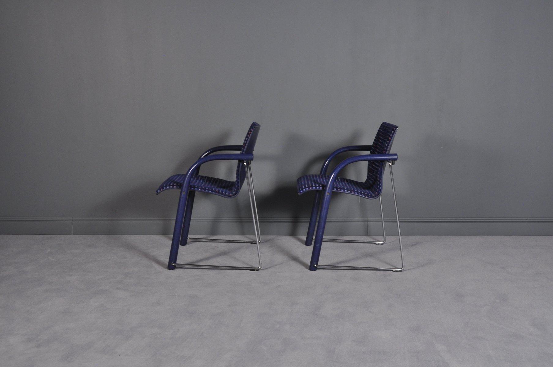 st hle von wolf schneider f r thonet 1984 2er set bei. Black Bedroom Furniture Sets. Home Design Ideas