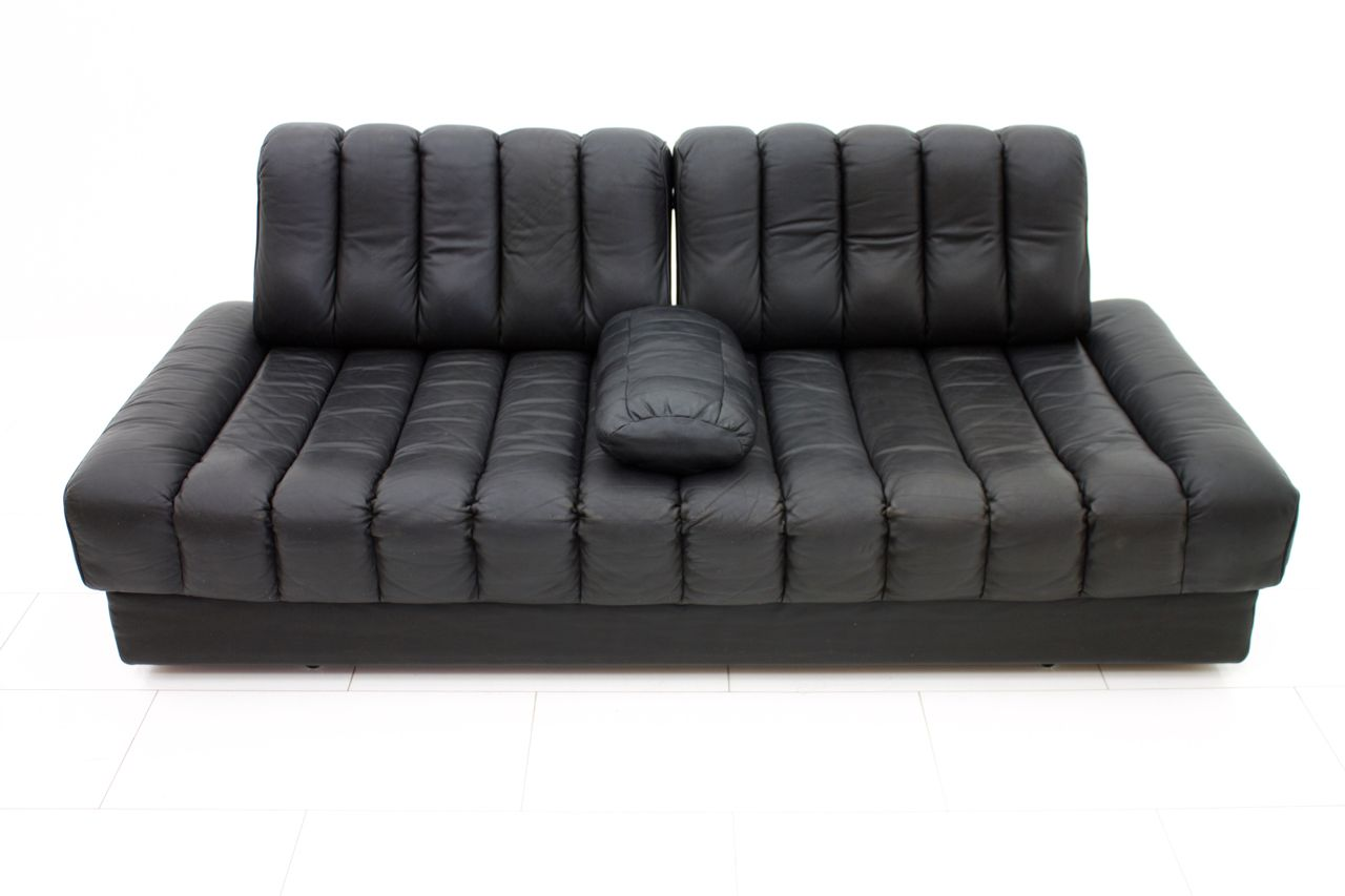Swiss Ds 85 Leather Sofa And Daybed From De Sede 1960s