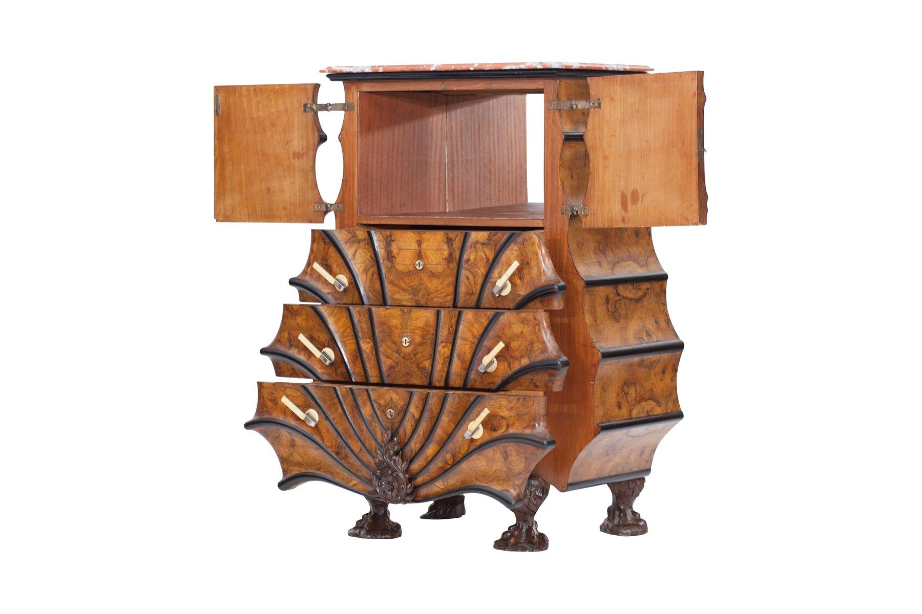 meuble vintage en noyer et bois noirci en vente sur pamono. Black Bedroom Furniture Sets. Home Design Ideas