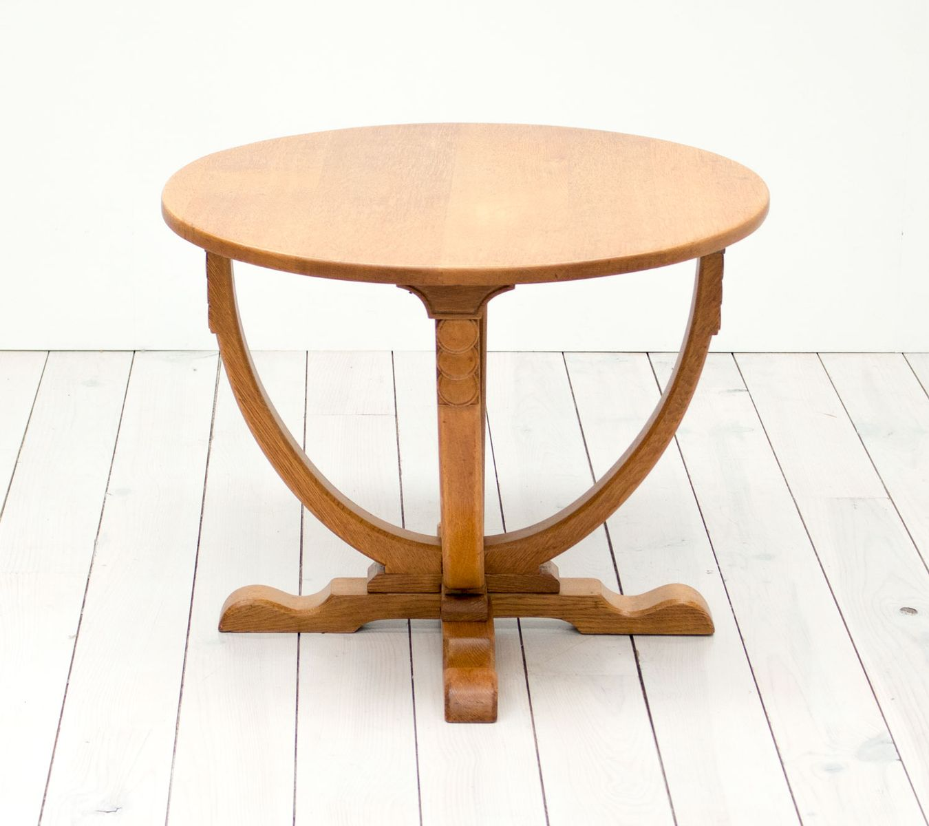 Vintage english art deco oak side table for sale at pamono - Deco table vintage ...