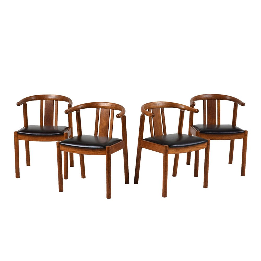 d nische mid century esszimmerst hle 1940er 4er set bei pamono kaufen. Black Bedroom Furniture Sets. Home Design Ideas
