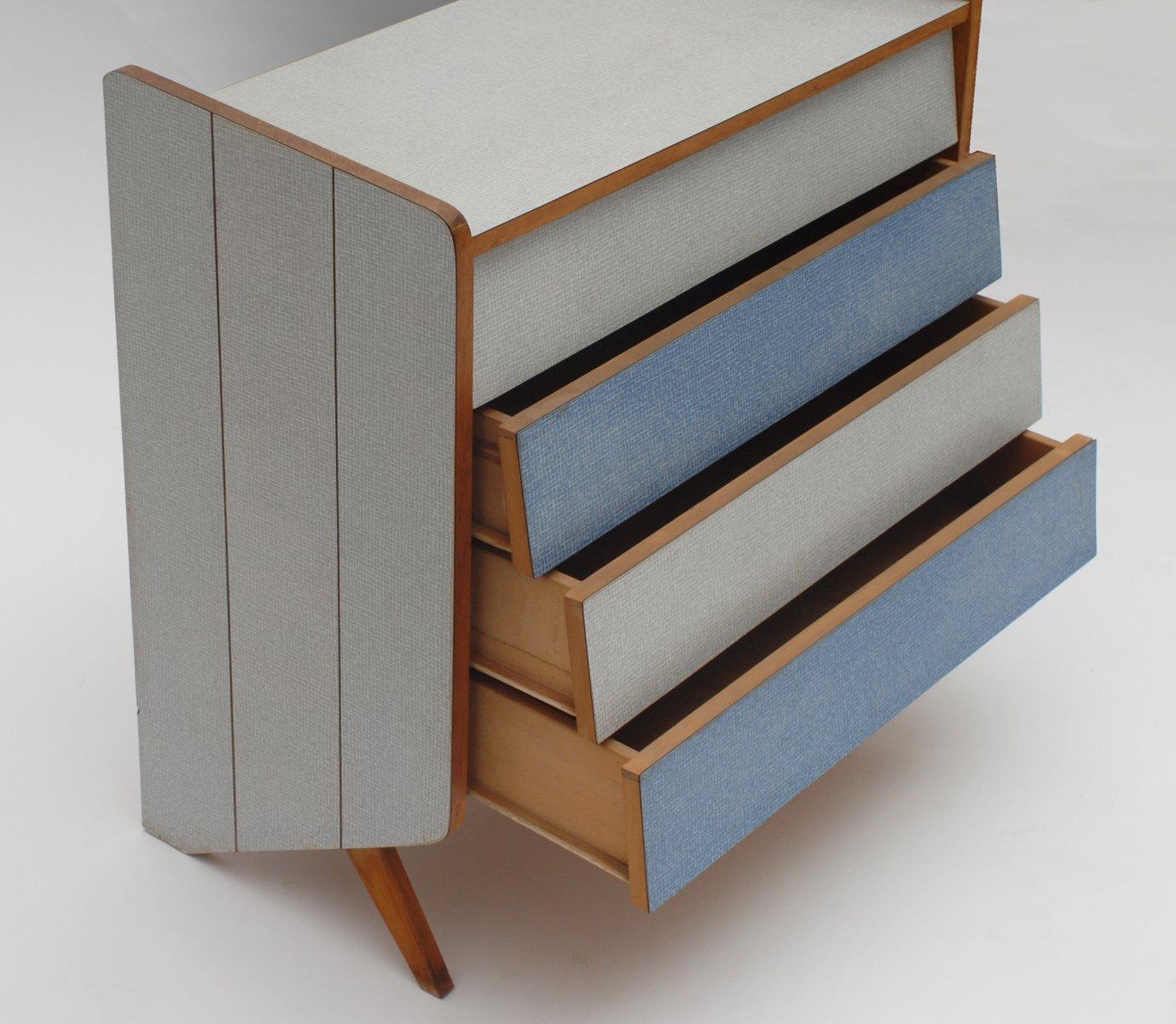 vintage kommode in wei und blau bei pamono kaufen. Black Bedroom Furniture Sets. Home Design Ideas