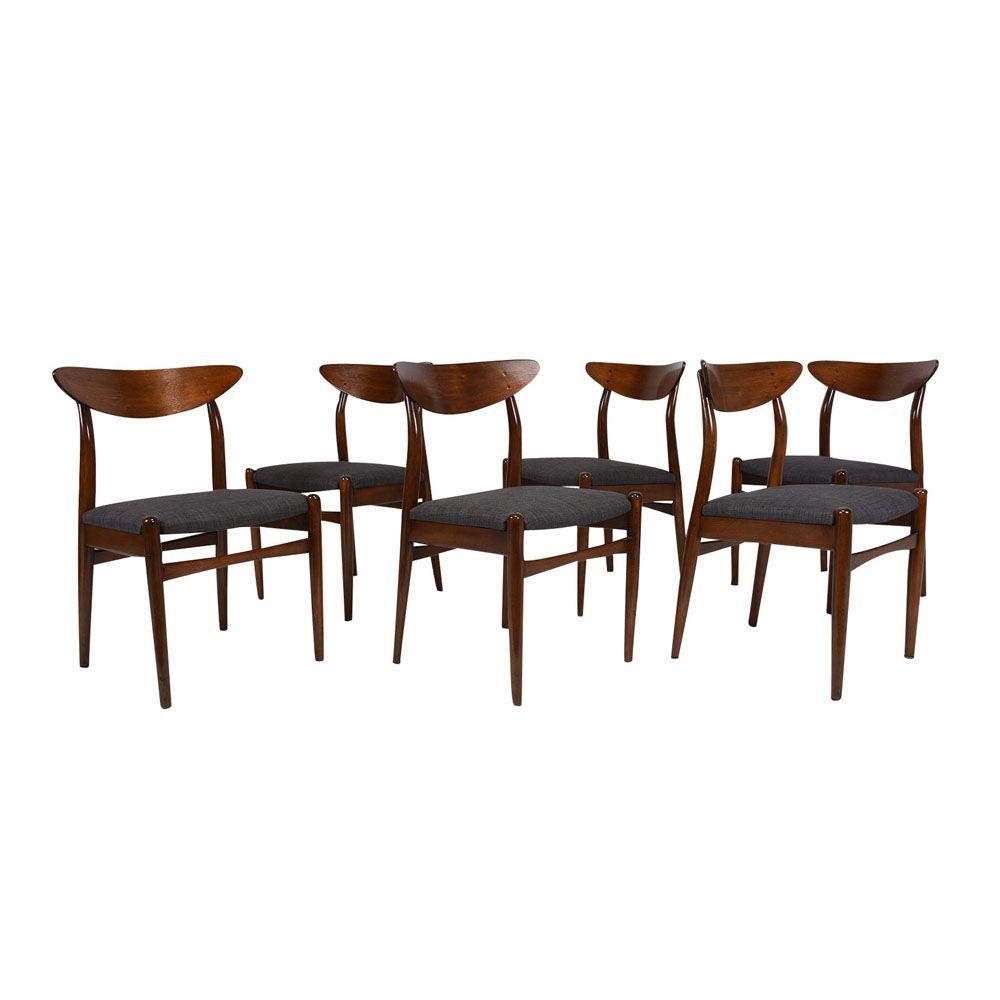 d nische esszimmerst hle 1960er 6er set bei pamono kaufen. Black Bedroom Furniture Sets. Home Design Ideas