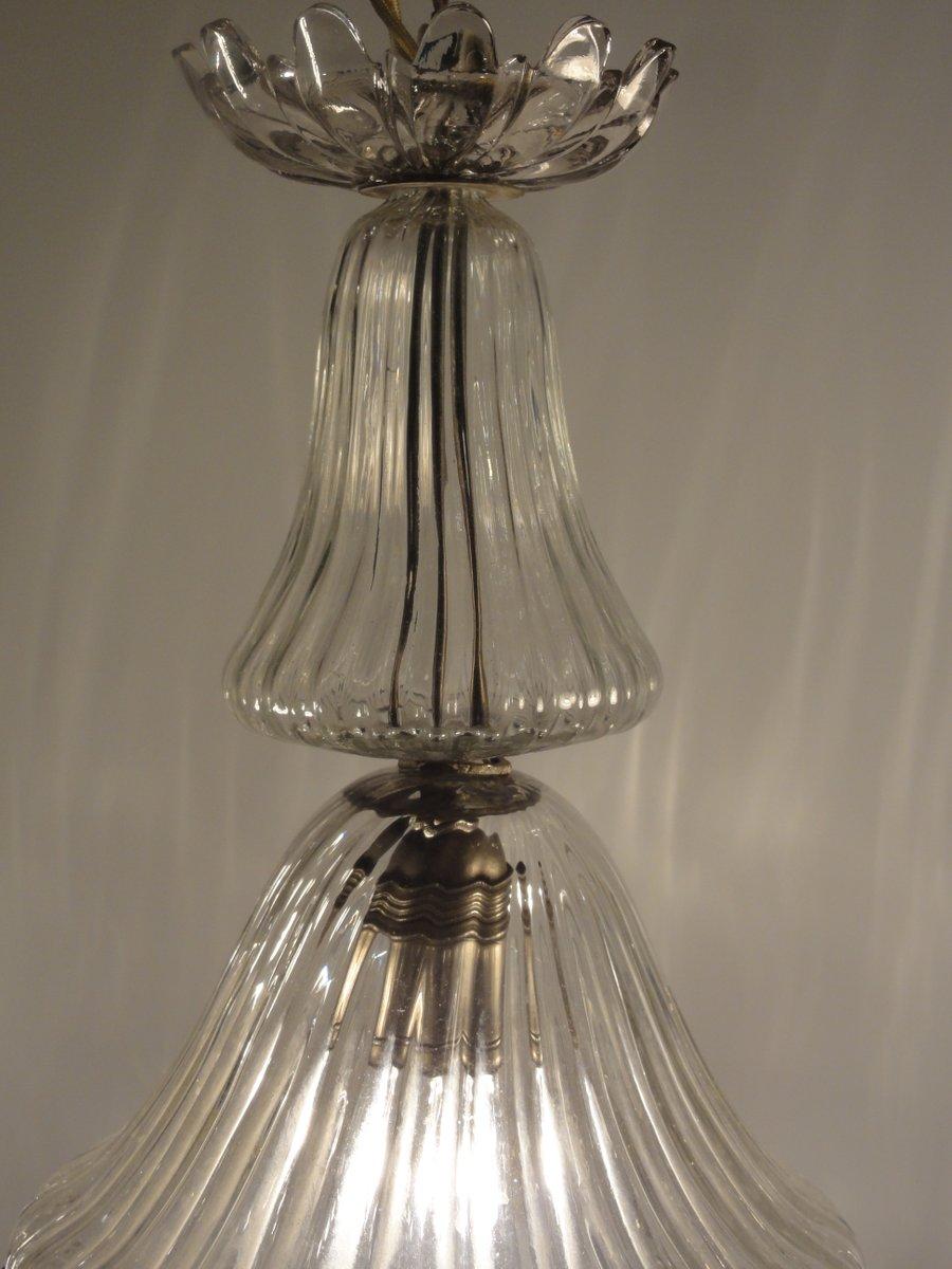glockenf rmige glas h ngelampe 1900er bei pamono kaufen. Black Bedroom Furniture Sets. Home Design Ideas
