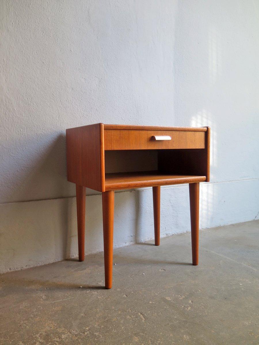 table de chevet vintage avec tiroir danemark en vente sur pamono. Black Bedroom Furniture Sets. Home Design Ideas