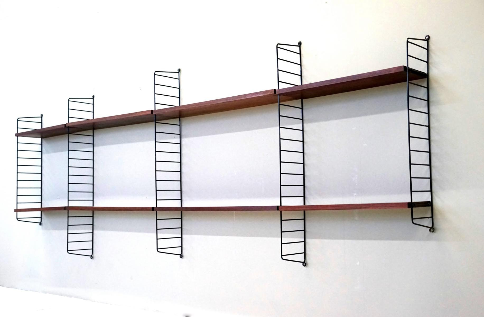 String Regal vintage string shelf rack system by nisse strinning for string