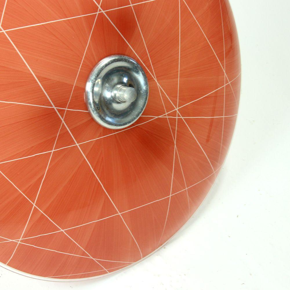 rote glas deckenlampe von napako 1960er bei pamono kaufen. Black Bedroom Furniture Sets. Home Design Ideas