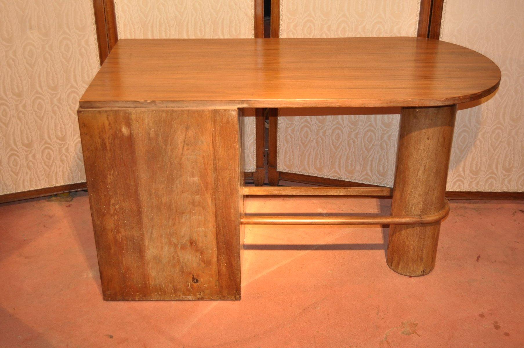 franz sischer vintage walnuss schreibtisch bei pamono kaufen. Black Bedroom Furniture Sets. Home Design Ideas