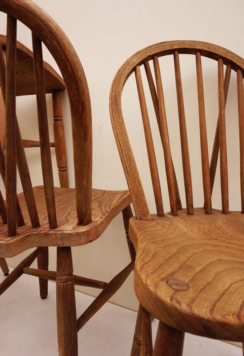 vintage windsor st hle mit gebogenen r ckenlehnen 5er set bei pamono kaufen. Black Bedroom Furniture Sets. Home Design Ideas