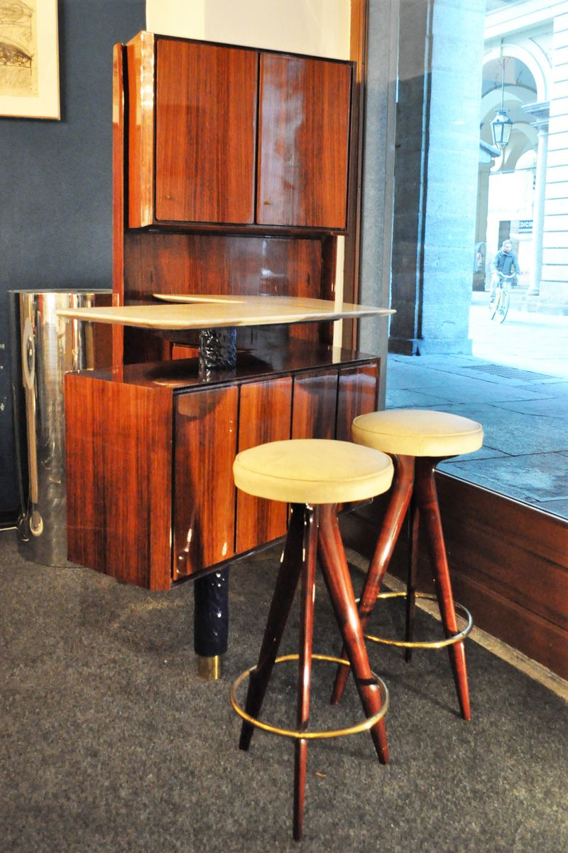 Vintage Italian Mobile Bar By Osvaldo Borsani For Varedo 1950s At Pamono